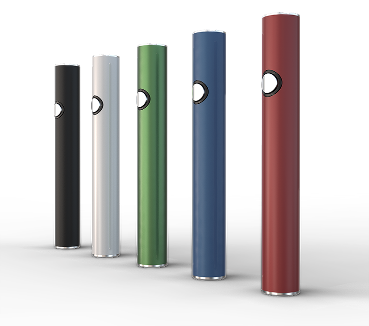 BUTTON-ACTIVATED 510 THREAD OIL VAPE BATTERY